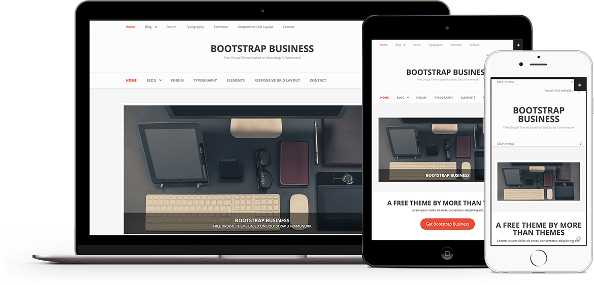 Bootstrap Business, free theme for Drupal 8