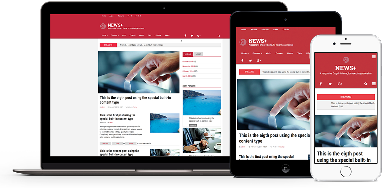 News Premium Theme For Drupal 8