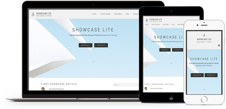 Showcase Lite Theme For Drupal 8