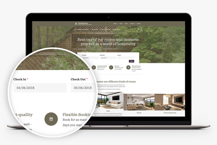 Great forms so your visitors can search for room availability