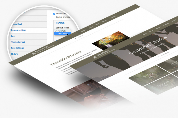 Guesthouse+ comes with  200+ theme settings to help you customize your site