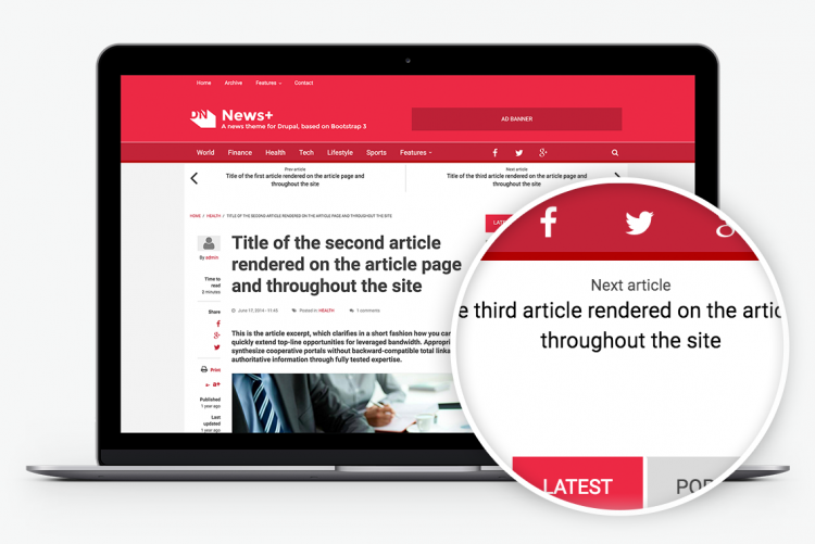 Keep your visitors engaged providing single-click navigation to the next or previous post