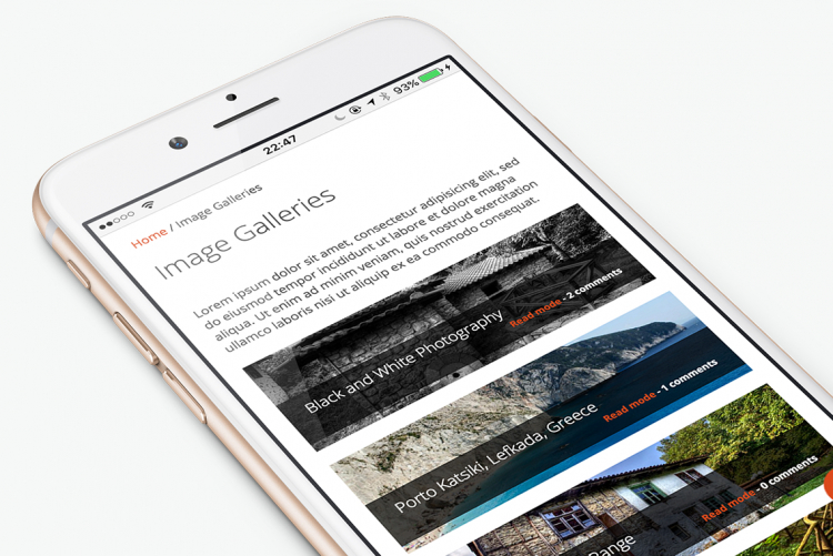 Responsive One-, Two- and Three-column gallery layouts