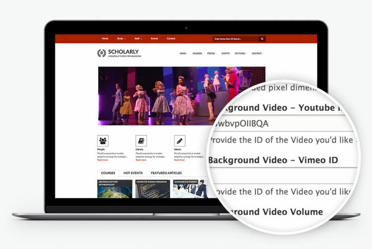 Scholarly for Drupal 8 supports video out-of-the-box
